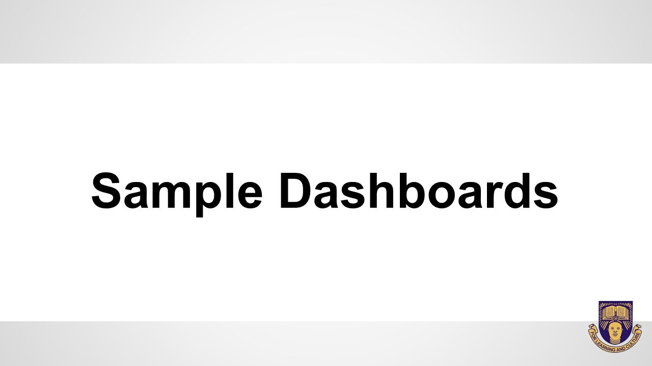Sample Dashboards