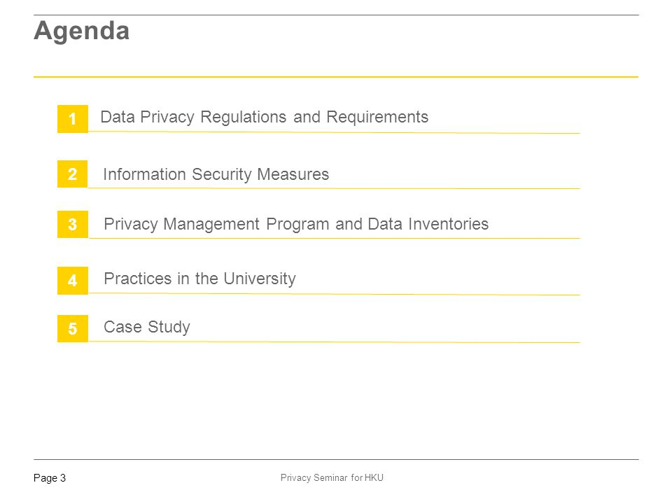 Page 24 Privacy Seminar for HKU 3. Privacy Management Program and Data Inventories (Cont'd)