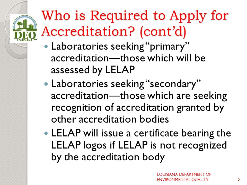 Who Does Not Have to Be Accredited.