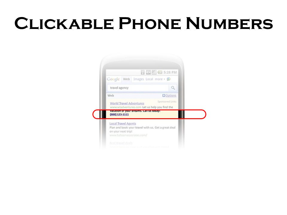 Clickable Phone Numbers