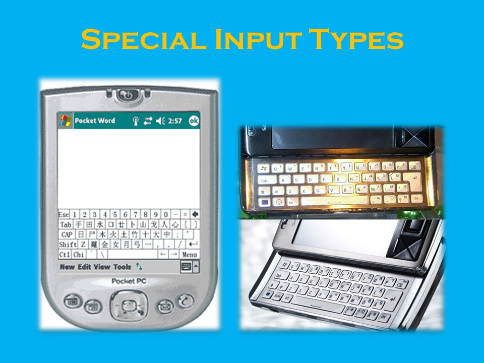 Special Input Types