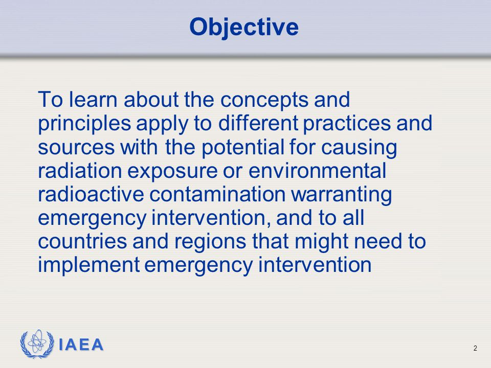 IAEA Responsibilities – User Level To mitigate the emergency To protect people on-site To notify off-site officials and providing them with recommendations on protective actions and technical assistance To provide initial radiological monitoring 23