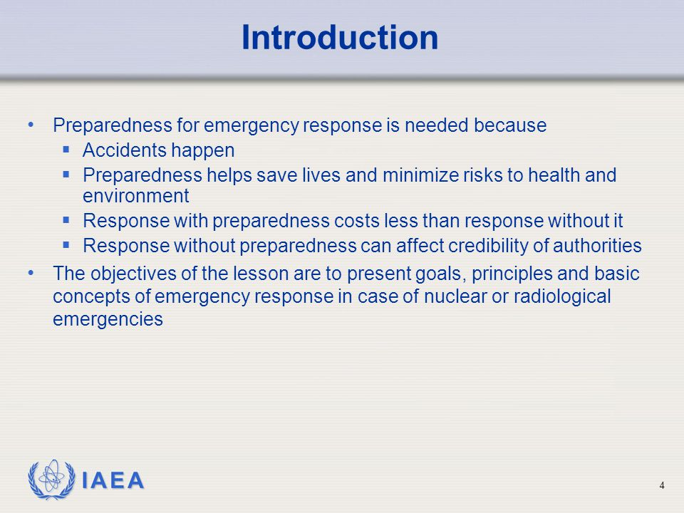 IAEA Concepts of Operations Threat Category IV First responders Take life saving actions Notify local off-site officials Local officials take precautions to confine radioactive material and to protect people in the immediate vicinity National officials Dispatch survey and response personnel Request assistance through IAEA (if needed) Brief the media 45
