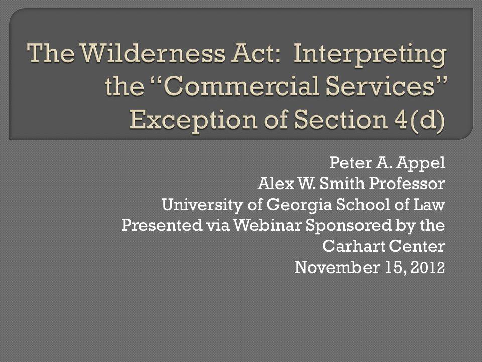 Peter A. Appel Alex W.