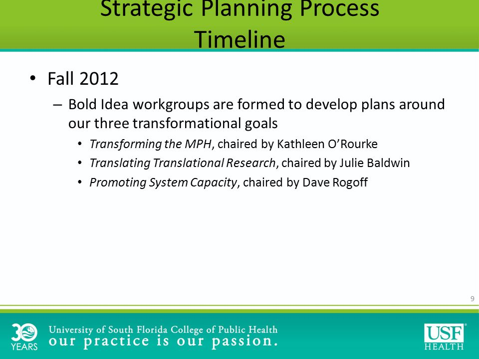 Objective 1: The USF COPH will offer the transformed MPH curriculum by 2022.