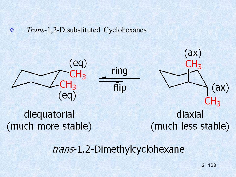  Trans-1,2-Disubstituted Cyclohexanes 2   128
