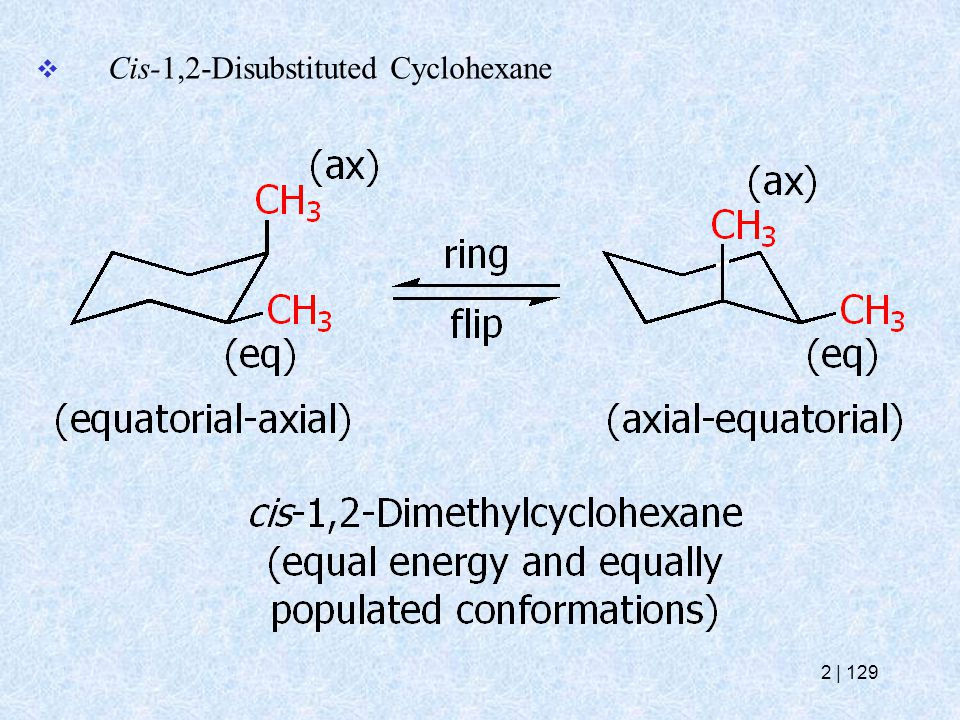  Cis-1,2-Disubstituted Cyclohexane 2   129