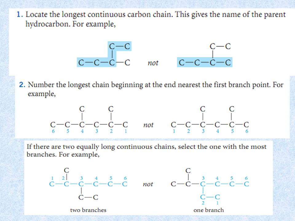  Example (Cont'd)  Between the two bridgeheads ● Two-carbon bridge on the left ● Two-carbon bridge on the right ● One-carbon bridge in the middle  Complete name ● Bicyclo[2.2.1]heptane 2   70