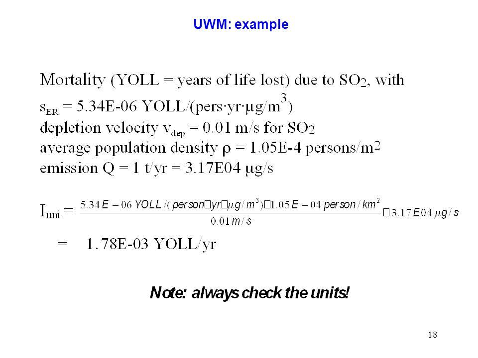 18 UWM: example