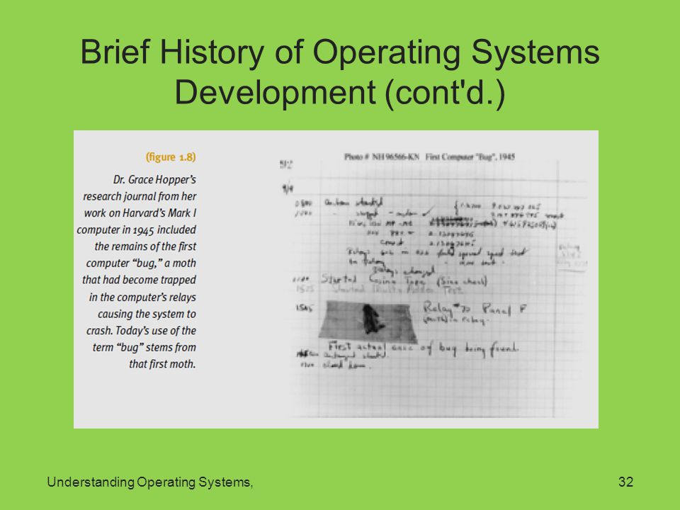 Understanding Operating Systems,32 Brief History of Operating Systems Development (cont'd.)