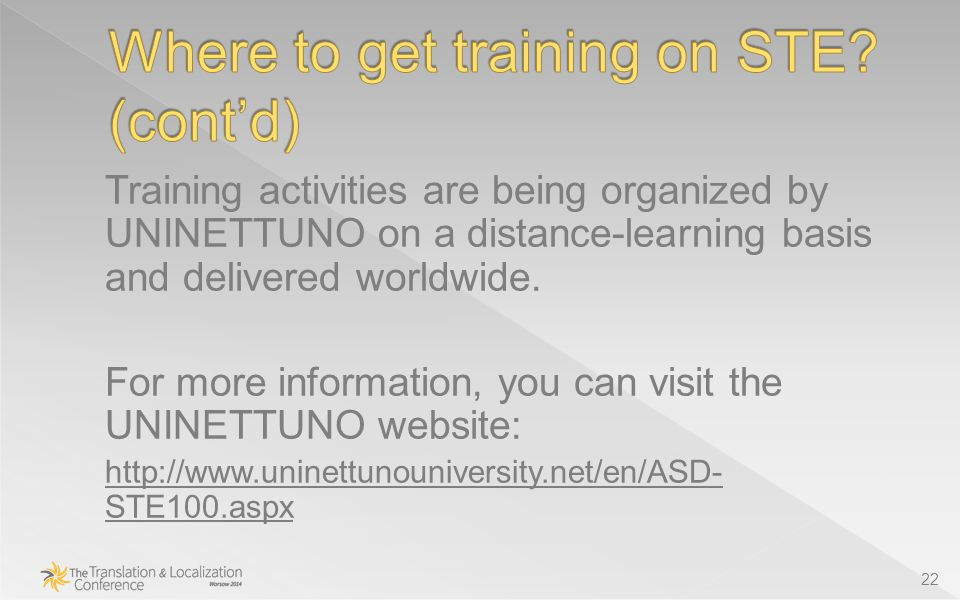 Training activities are being organized by UNINETTUNO on a distance-learning basis and delivered worldwide.