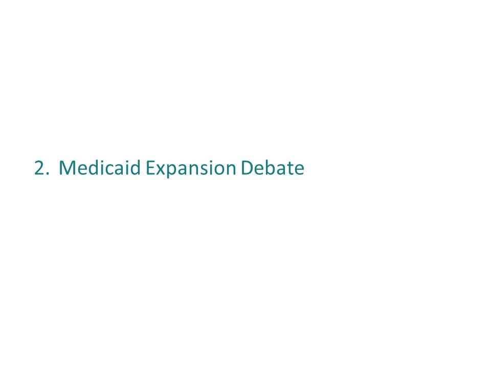 2.Medicaid Expansion Debate