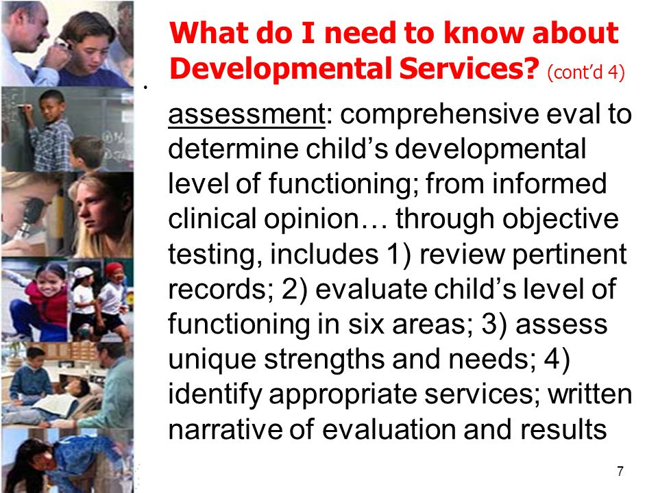 7 What do I need to know about Developmental Services.