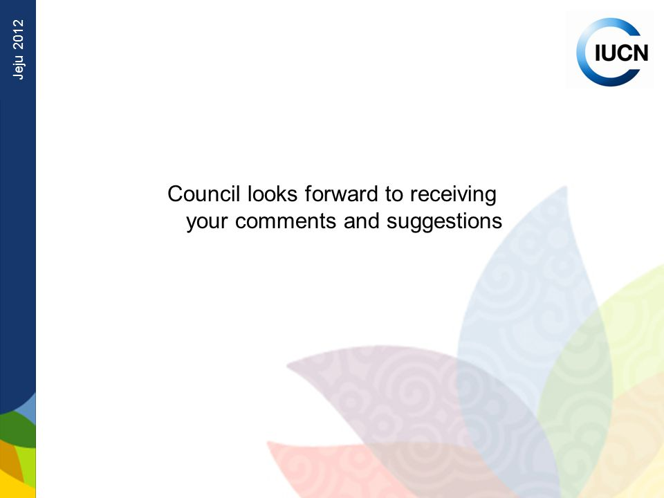 Jeju 2012 Council looks forward to receiving your comments and suggestions