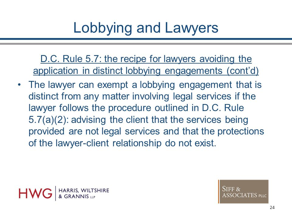 Lobbying and Lawyers D.C.
