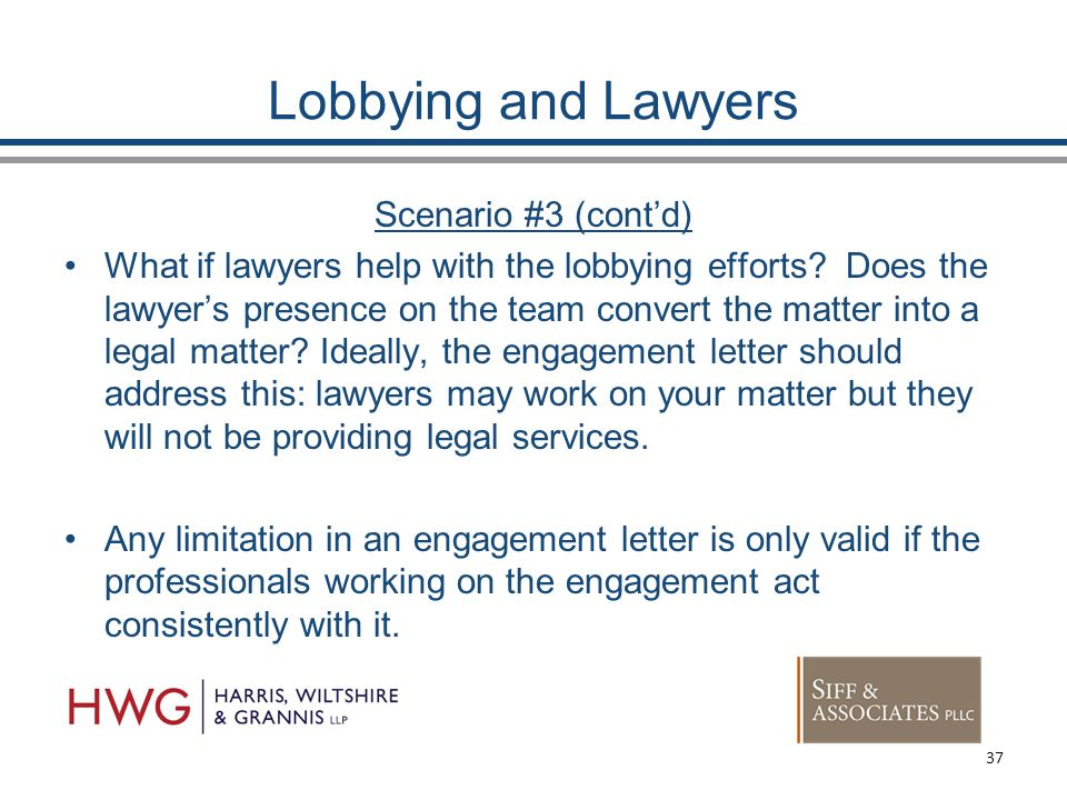 Lobbying and Lawyers Scenario #3 (cont'd) What if lawyers help with the lobbying efforts.