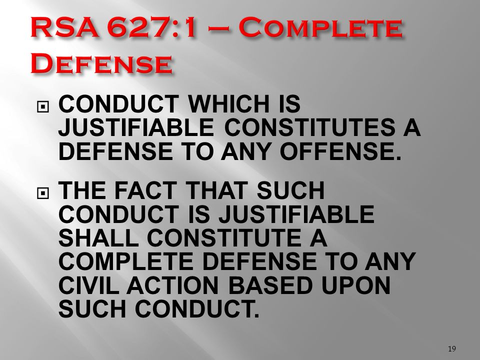  CONDUCT WHICH IS JUSTIFIABLE CONSTITUTES A DEFENSE TO ANY OFFENSE.