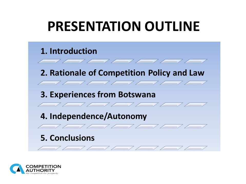 PRESENTATION OUTLINE 1. Introduction 2. Rationale of Competition Policy and Law 3.