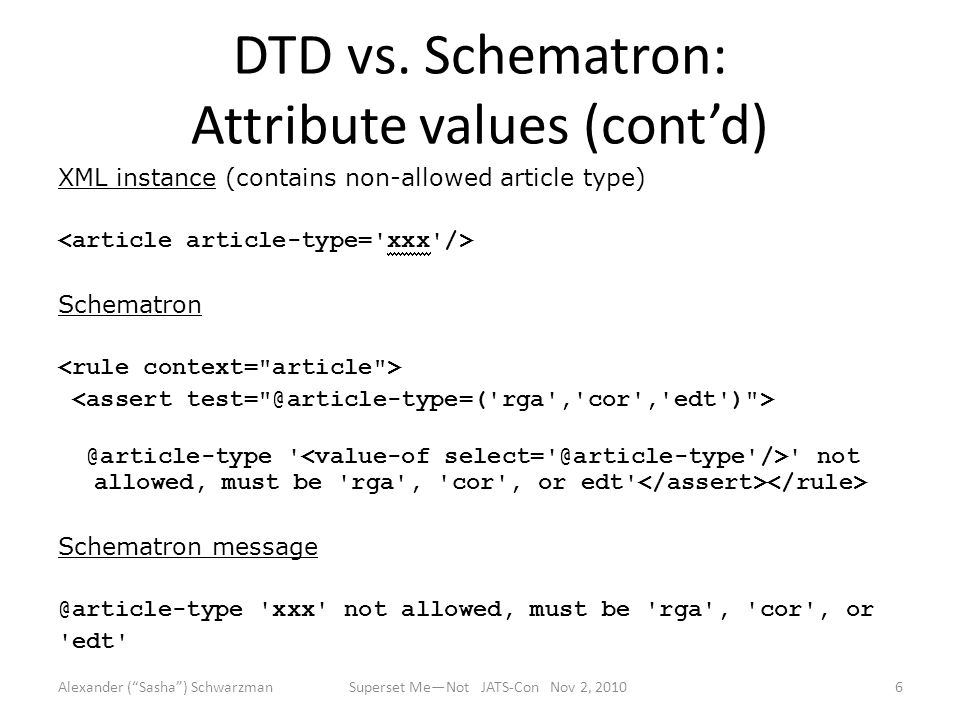 DTD vs.