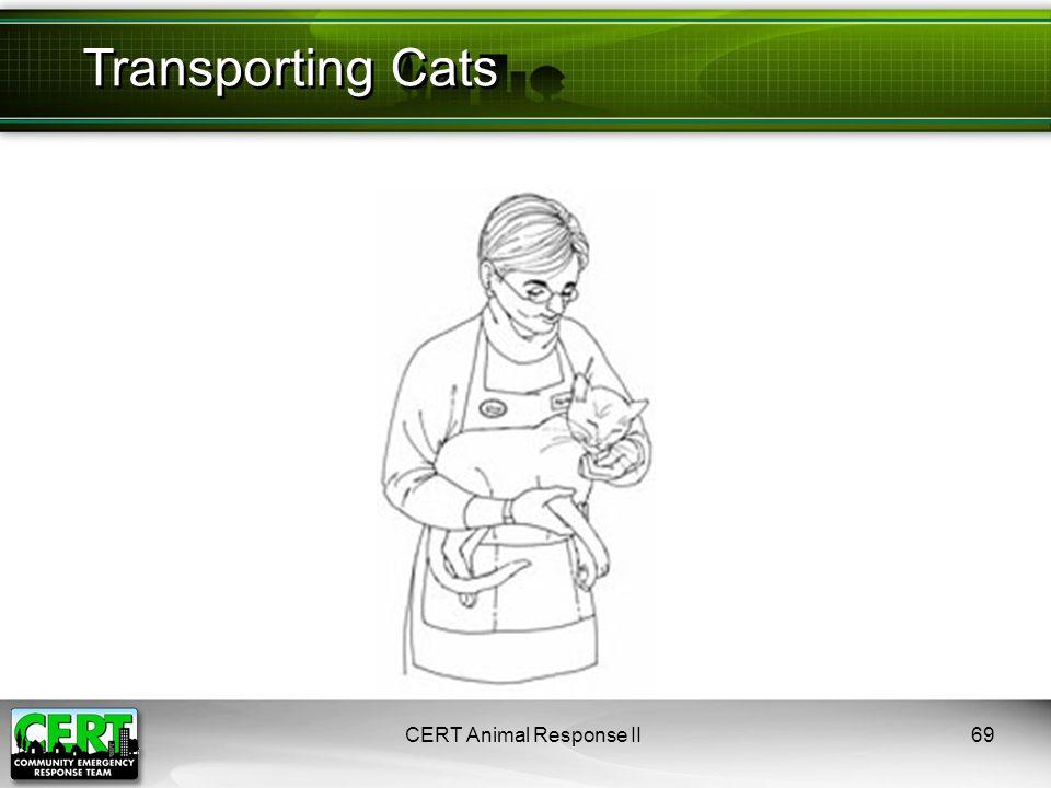 CERT Animal Response II69 Transporting Cats
