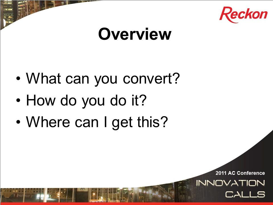 What can you convert.