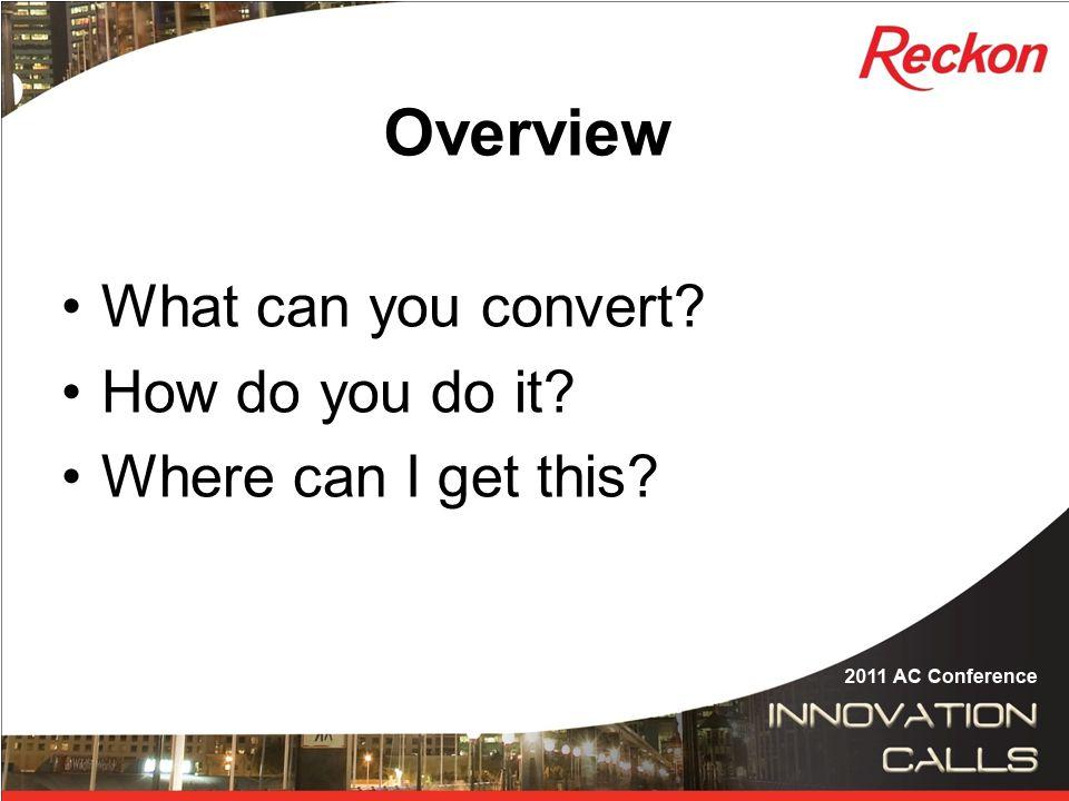 Step 7 – Convert Lists into.IIF formats