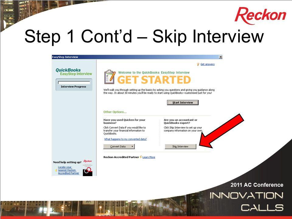 Step 1 Cont'd – Enter details