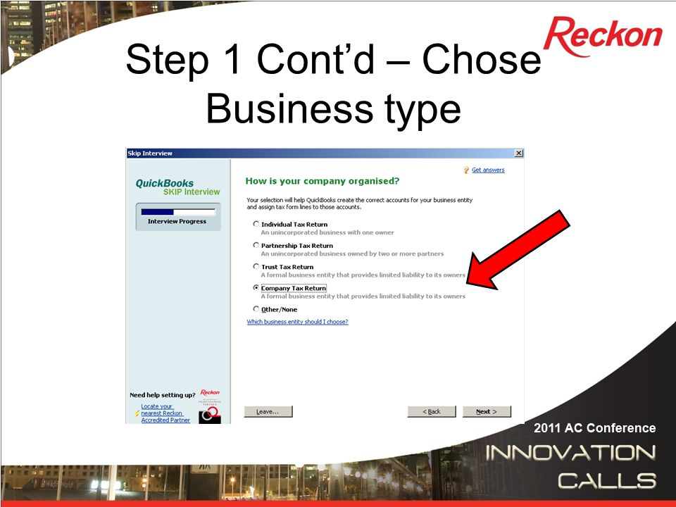 Step 6 Cont'd – Select the QuickBooks data file Select the blank data file you created, Select Open.
