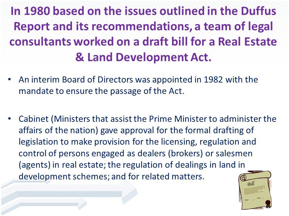 The Real Estate (Dealers & Developers) Act was passed 1987 but came into effect September 1, 1988.