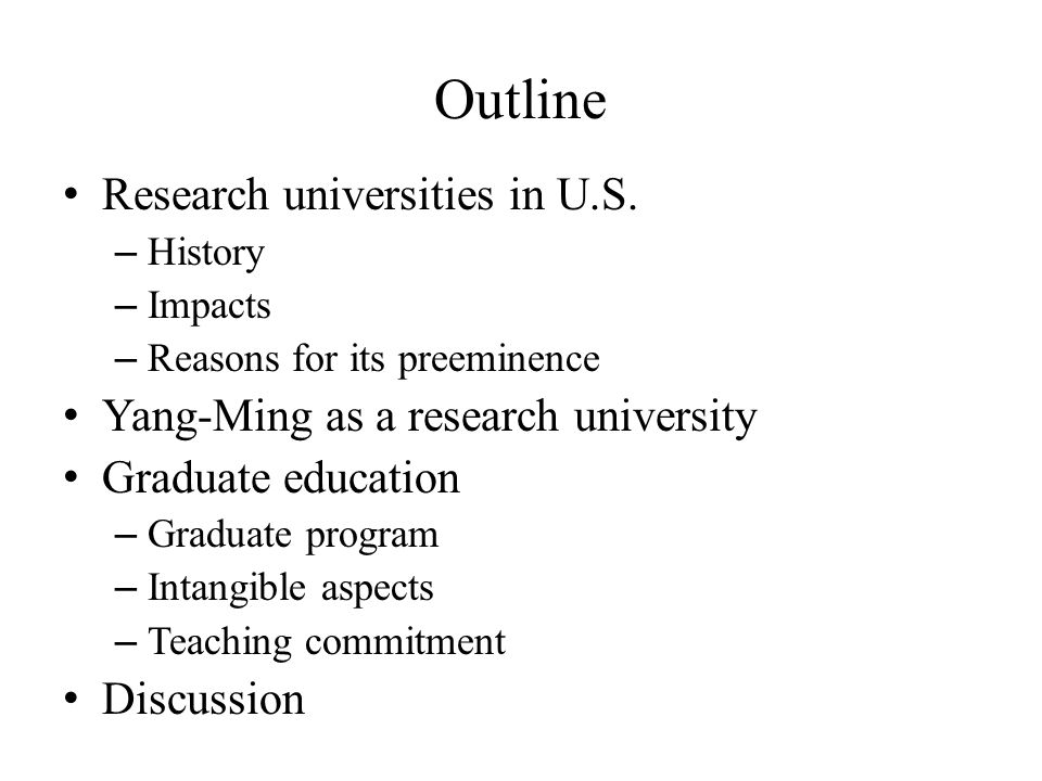 Intangible Aspects (cont'd) Societal need – Job markets (academic or not) for graduates to utilize acquired knowledge It is our responsibility to think along this line – Thinking outside of the box Academic is not the only option Be visionary and ahead of the game – Designing courses, programs to suit the societal needs – More versatile for students
