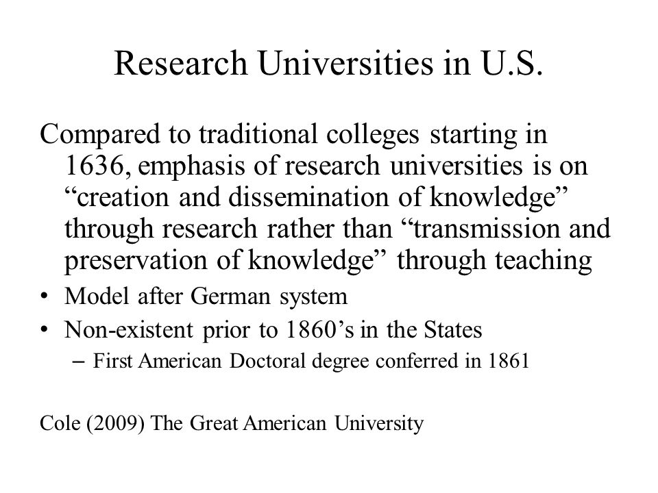 Research Universities in U.S.