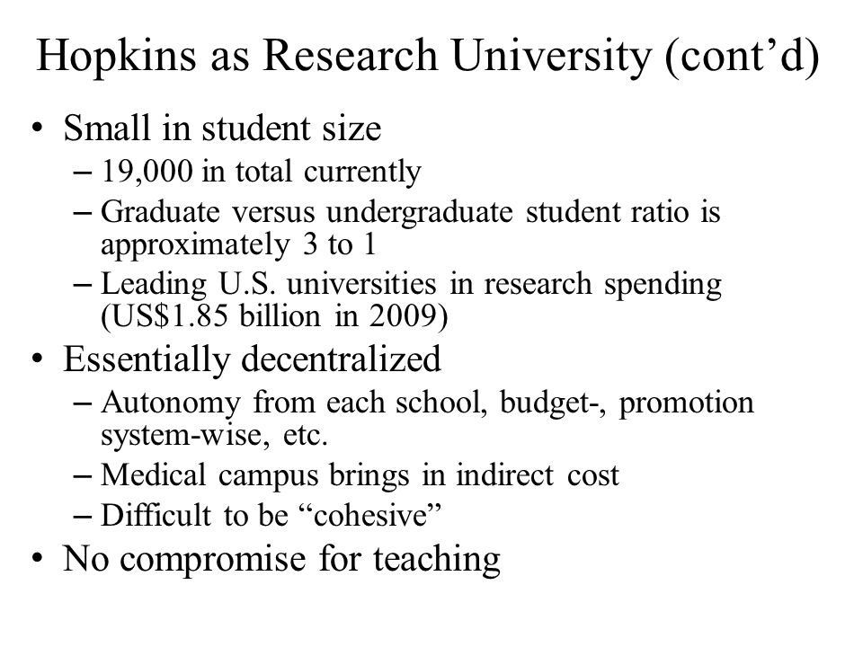 Discussion The last century demonstrated that research universities in U.S.