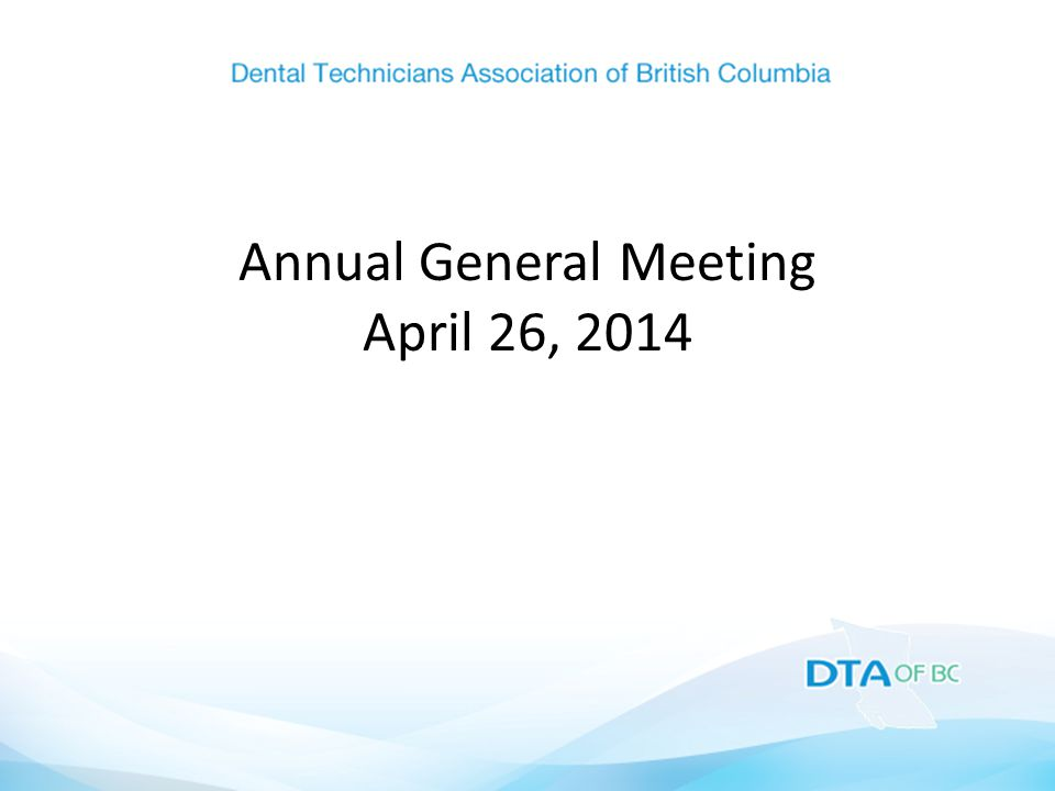 Annual General Meeting April 26, 2014
