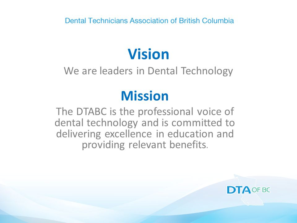 DTABC PDC Partnership DTABC joined PDC March 2014 at Vancouver Convention Centre PDC Exhibitors participated [24] 205 delegates attended Continuing Education Higher profile in dental profession Keeping DTABC identity / brand PDC very happy with results for 1st year
