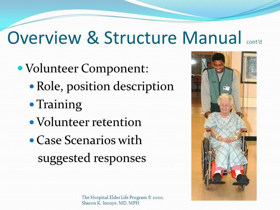 The Hospital Elder Life Program © 2000, Sharon K. Inouye, MD, MPH