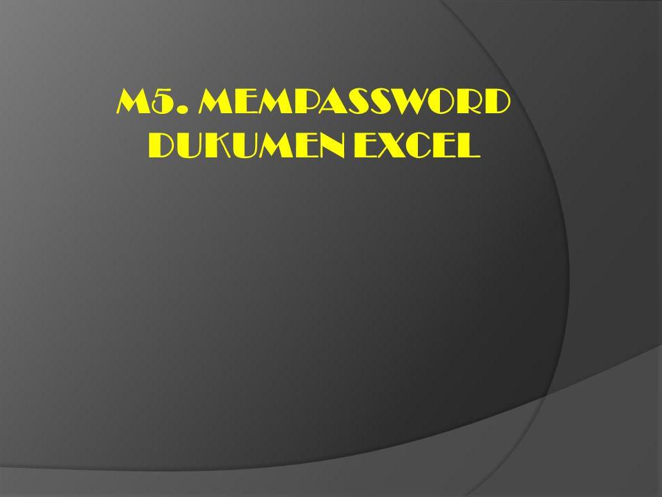 M5. MEMPASSWORD DUKUMEN EXCEL