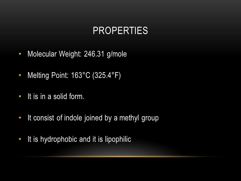 PROPERTIES Molecular Weight: 246.31 g/mole Melting Point: 163°C (325.4°F) It is in a solid form.