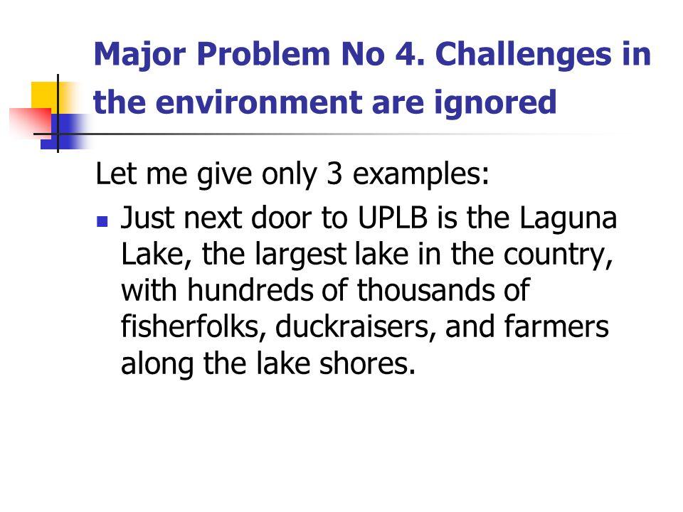 Major Problem No 4.