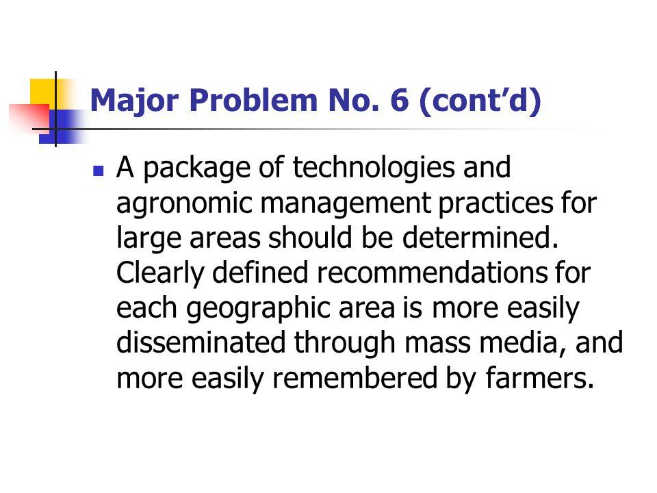 Major Problem No.