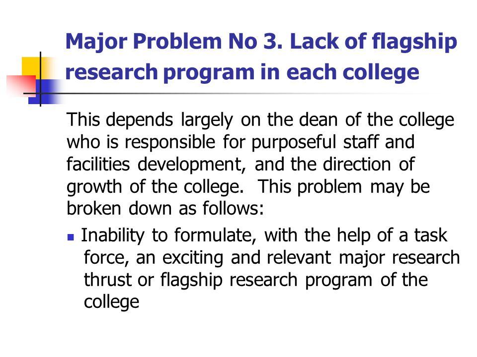 Major Problem No 3.