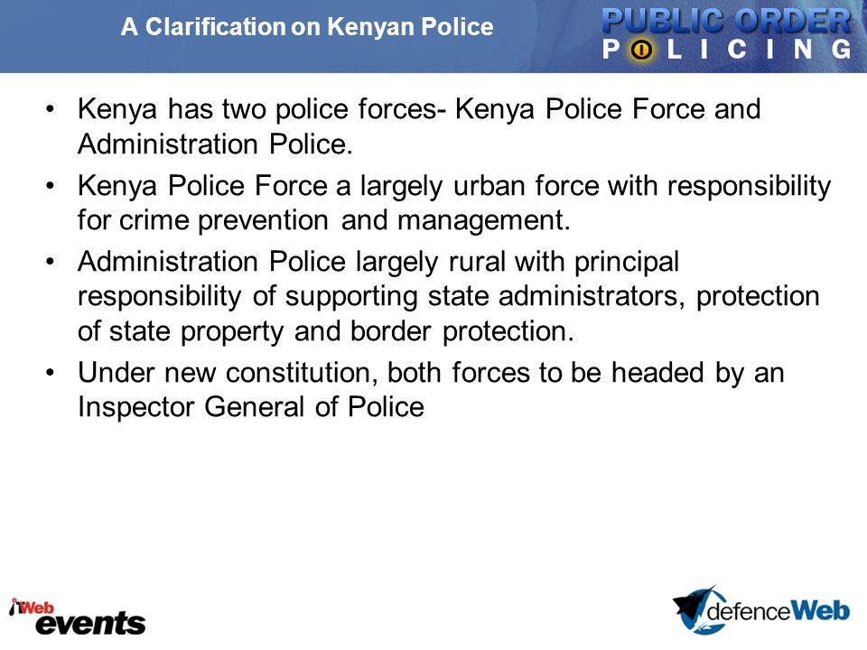 Conclusions Police forces in many African countries have not been sufficiently studied as actors in their own right.