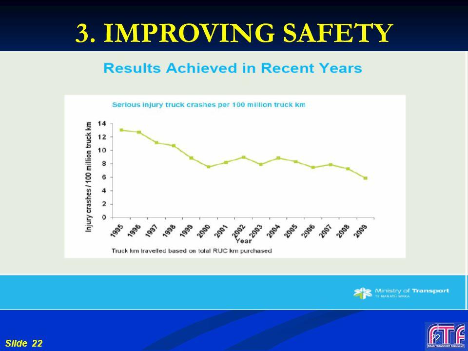 Slide 22 22 3. IMPROVING SAFETY