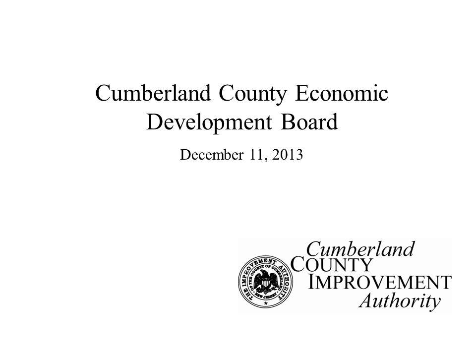 Cumberland County Economic Development Board December 11, 2013