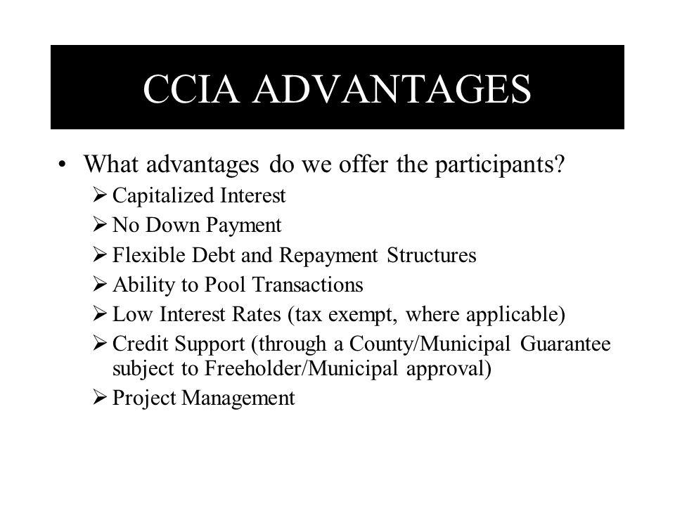 What advantages do we offer the participants.