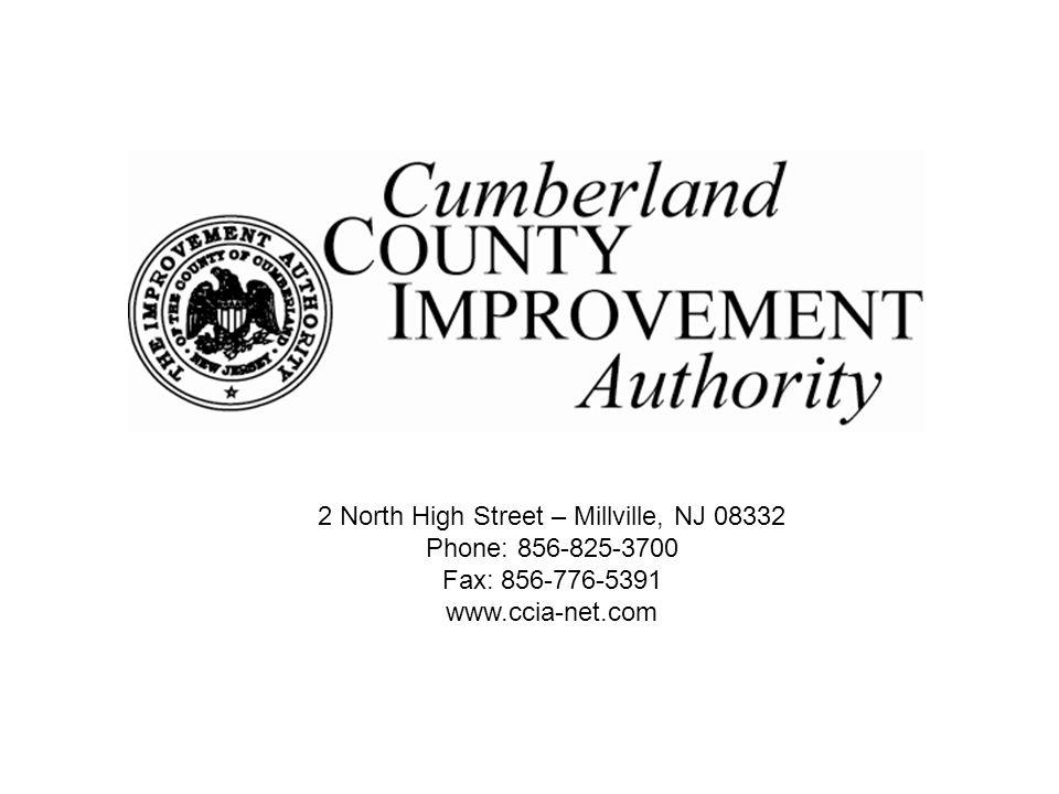 2 North High Street – Millville, NJ 08332 Phone: 856-825-3700 Fax: 856-776-5391 www.ccia-net.com
