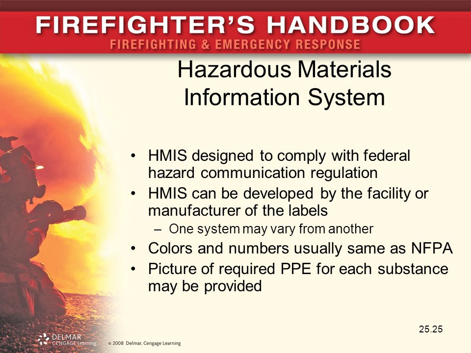 Hazardous Materials Information System HMIS designed to comply with federal hazard communication regulation HMIS can be developed by the facility or m