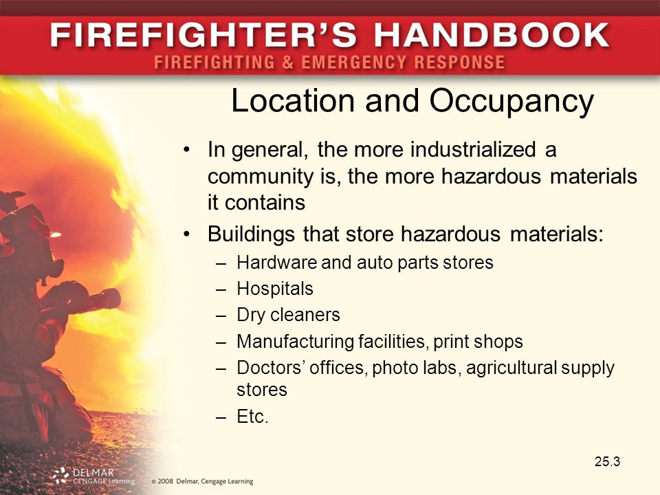 Lessons Learned At any incident, there is always a factor that relates to identification of hazardous materials Know where to access hazardous materials information Materials with high vapor pressures present great risk Understanding the harms from radiation is an important safety consideration Local hazardous materials responders a good source of information 25.64