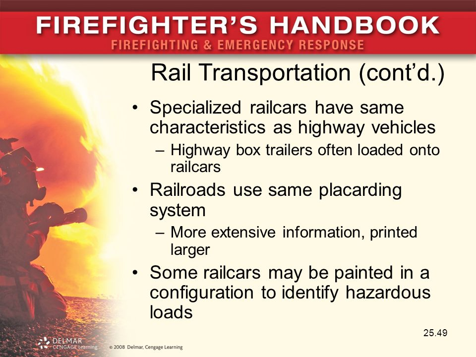 Rail Transportation (cont'd.) Specialized railcars have same characteristics as highway vehicles –Highway box trailers often loaded onto railcars Rail