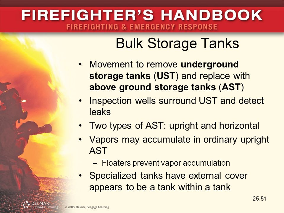 Bulk Storage Tanks Movement to remove underground storage tanks (UST) and replace with above ground storage tanks (AST) Inspection wells surround UST