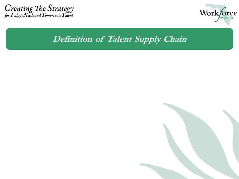 Definition of Talent Supply Chain